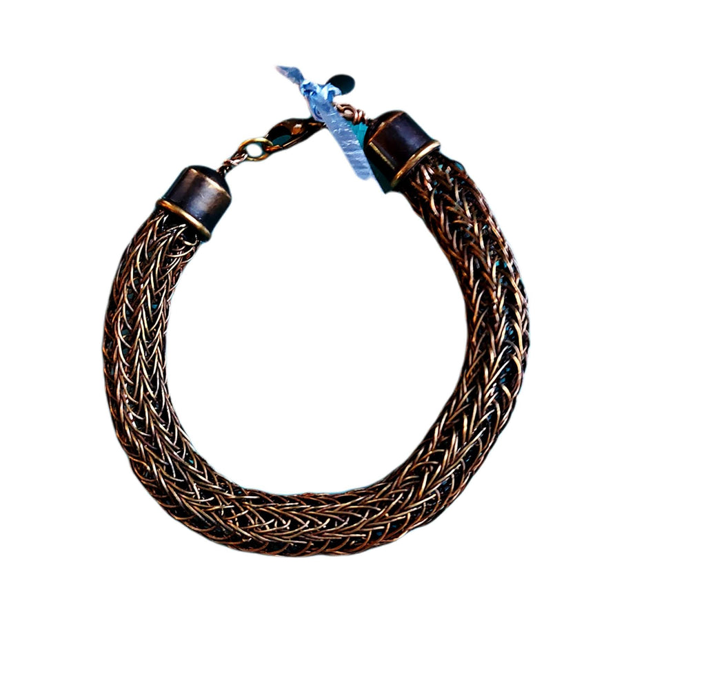 Viking Knit Bracelets for Women and Men Available in Silver, Copper and various sizes - #shop_terradore#