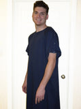 Men's Navy Blue I.V. Hospital Gown