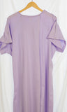 Lavender cotton Anatolia floral embroidered hospital gown
