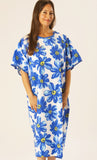 "Bright ""Blue Daisy"" Print Hospital Gown"