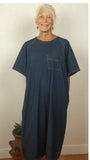 Unisex Washed Denim Hospital Patient Gown