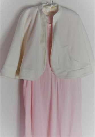Cozy, Cream Colored Bed Jacket/Cape