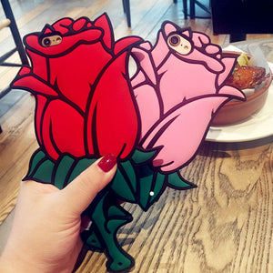 3D Rose Flower Soft Silicone Case
