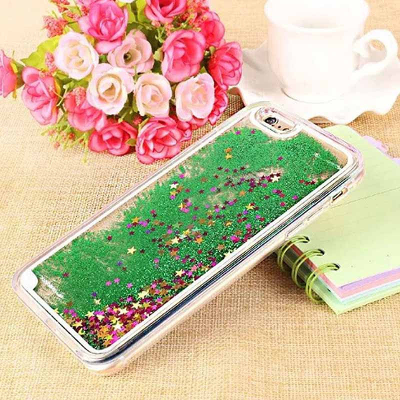 Liquid glitter bling quicksand transparent iphone case