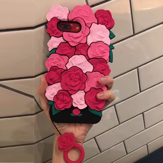 Fashion Flowers 3D iPhone Case