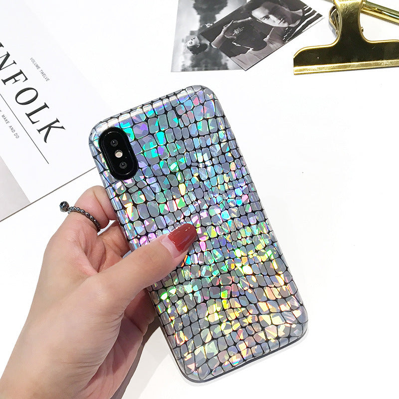 Fashion Laser Snake Texture Glitter Phone Cases