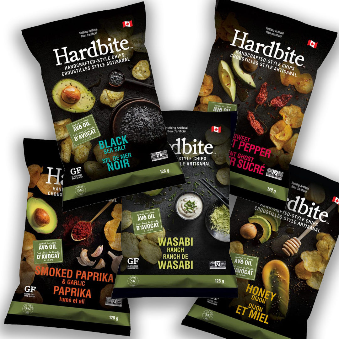 128g Hardbite Avo-Oil Potato Chips