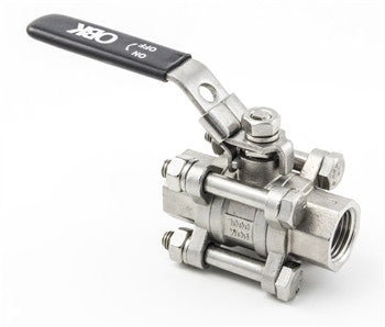 Stainless Steel 3 Piece Ball Valve - Beyond The Grape On-Premise Winemaking & Home Brewing Supplies