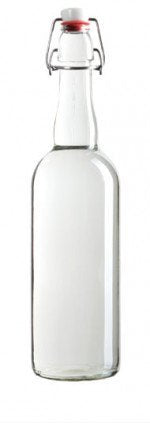 750ml Clear Swing Top Bottle (Case of 12)