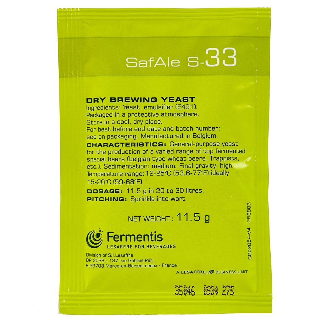 Yeast Safale S-33