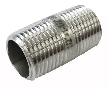 "Stainless Steel Nipple 1.5"" 12"" NPT - Beyond The Grape On-Premise Winemaking & Home Brewing Supplies"