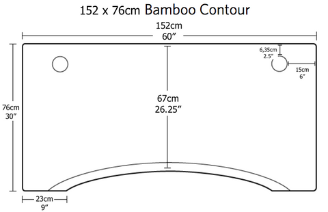 Dimensions of jarvis standing desk bamboo top 152cm wide