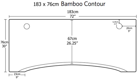 Dimensions of jarvis standing desk bamboo top 183cm wide