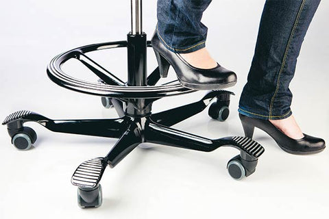 Foot ring that Fully Europe offers for the Capisco chairs