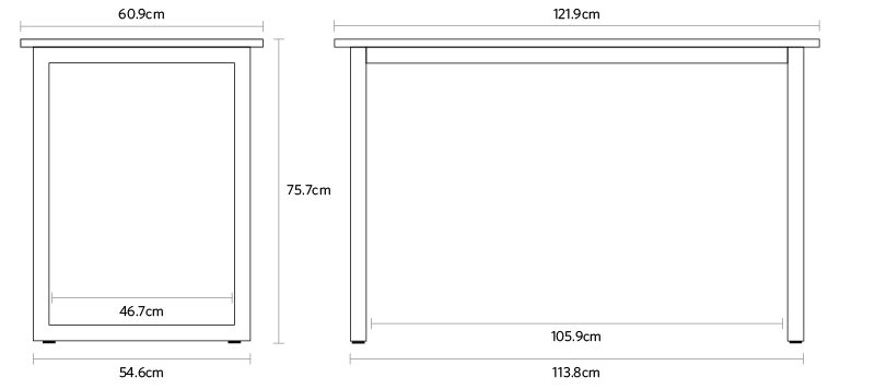 Metric dimensions and details of the Jarvis bamboo side table fully europe