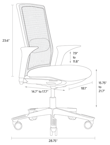 Imperial dimensions futu chair fully europe