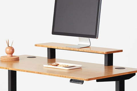Accessory for the Jarvis desk: Jarvis desk bamboo desk shelf to put monitor on correct height