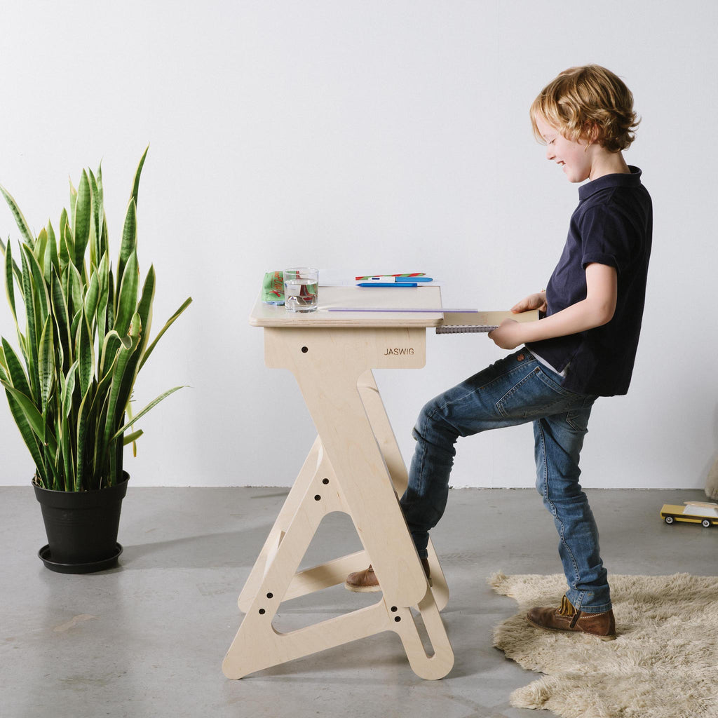 Wooden beautiful standing desk for children