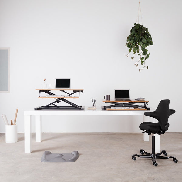 Cooper Beautiful Standing desk converter, Spacious, Flexible and Robust.