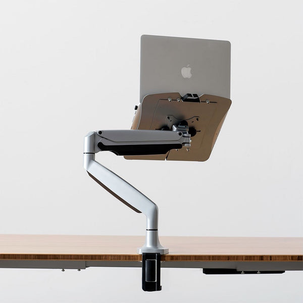 Sleek and easy to mount lap top stand.