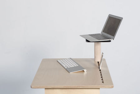 Standing desk laptop and monitor stand