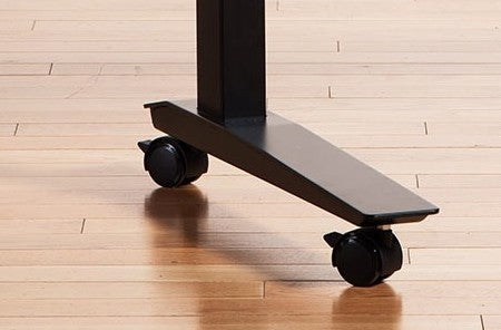 Heavy duty rolling casters for under your adjustable standing desk
