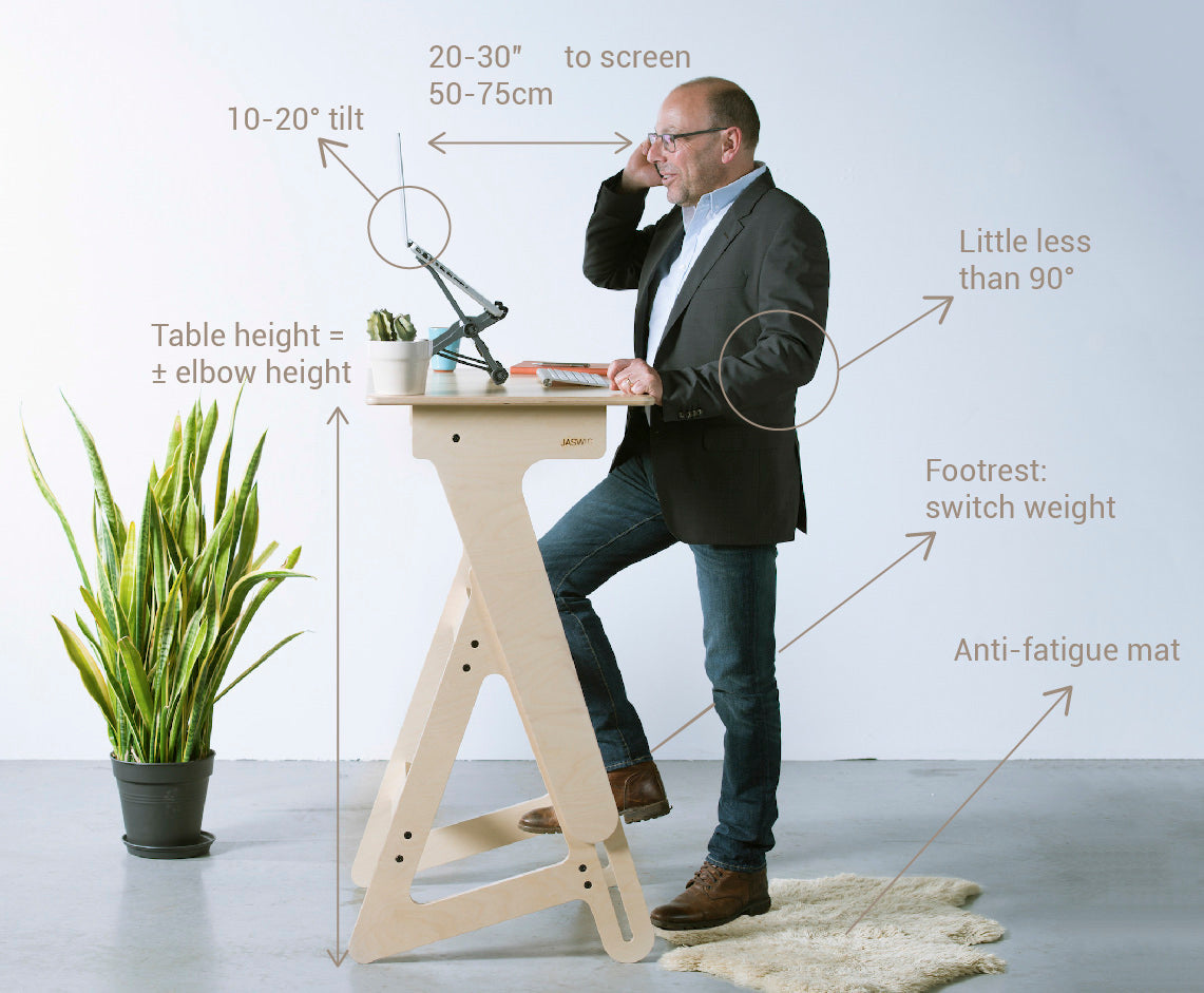 How to use a jaswig standing desk correctly
