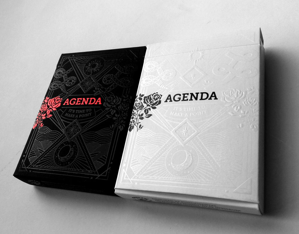 Agenda Playing Cards (Black)