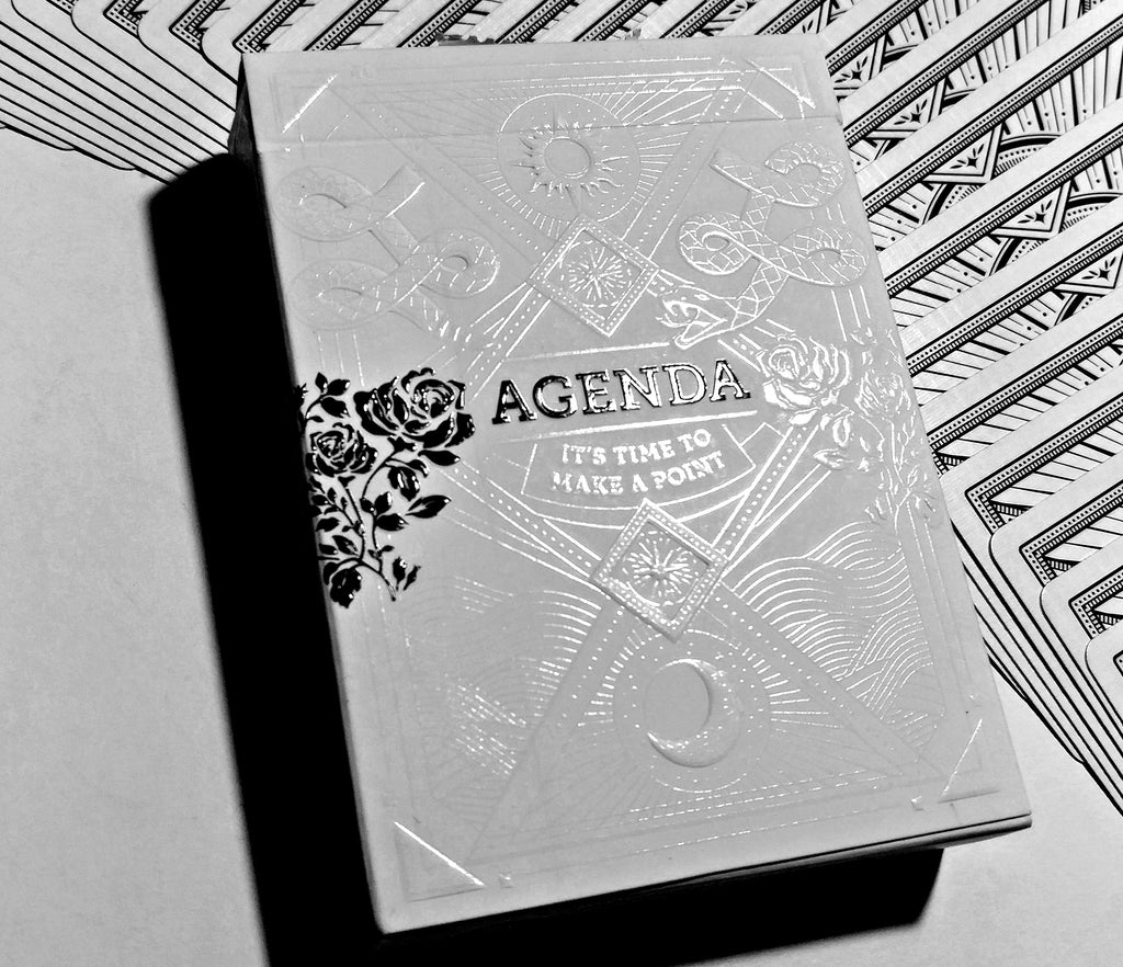 Agenda Playing Cards (White)