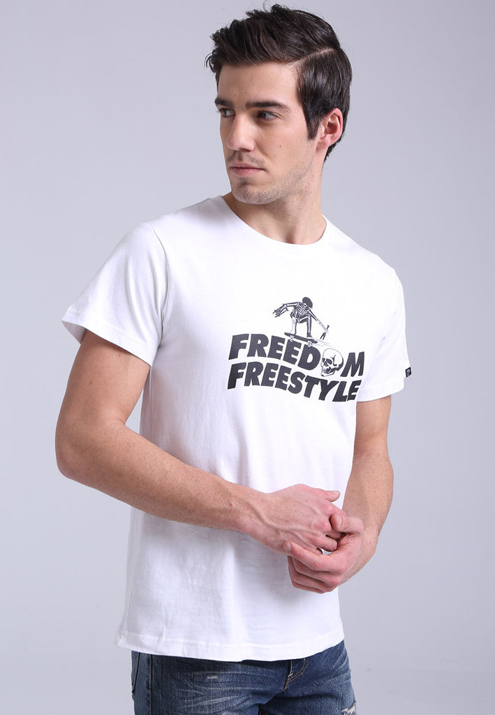 Freedom Freestyle White Tee