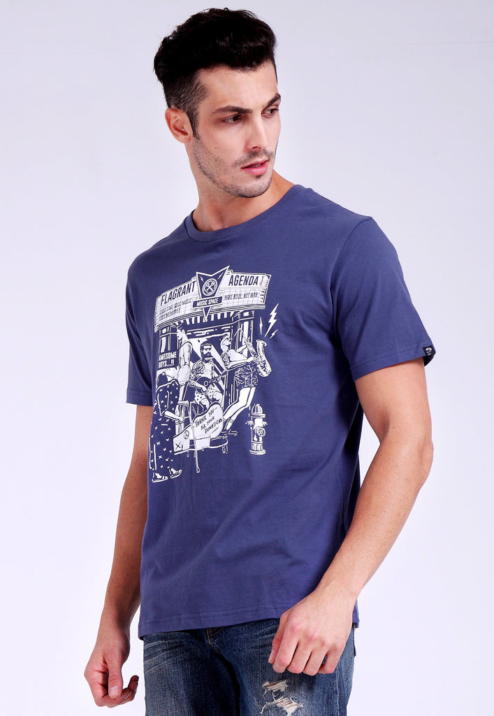 Make Noize Not War Navy Blue Tee