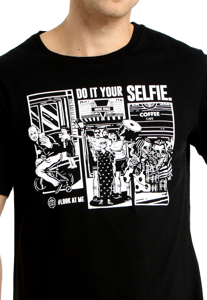 Do It Your Selfie Black Tee