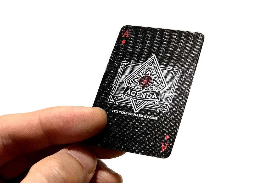 Agenda Playing Cards (Black Mini)