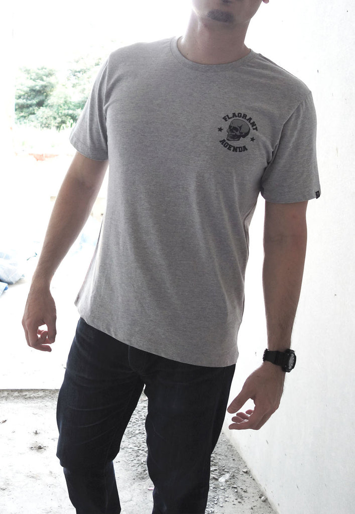 Flagrant Agenda Logo Grey Tee