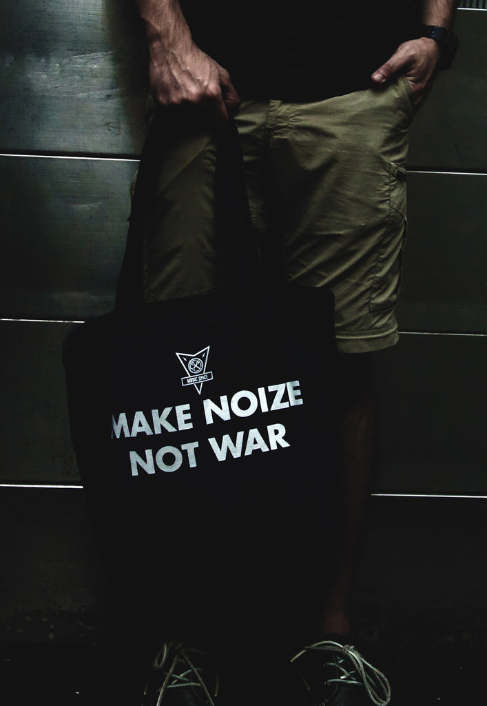 Make Noize Not War Black Bag