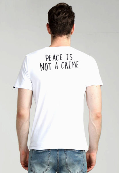 Peace Is Not a Crime White Tee