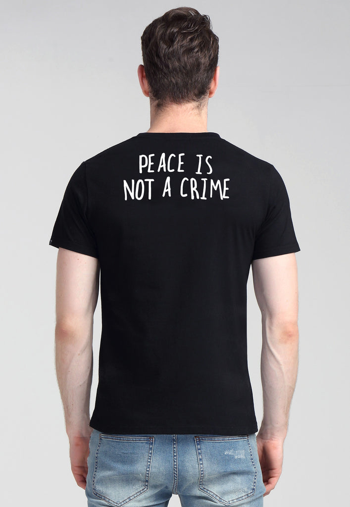 Peace Is Not a Crime Black Tee