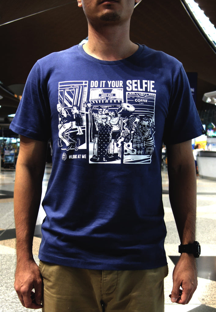 Do It Your Selfie Navy Tee