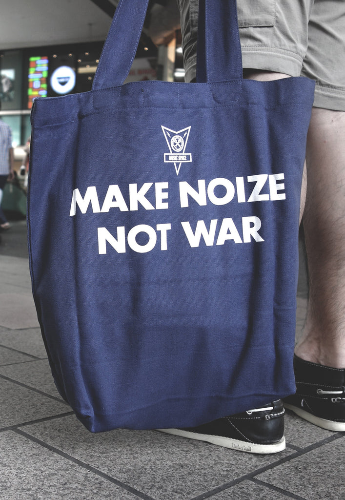 Make Noize Not War Navy Bag