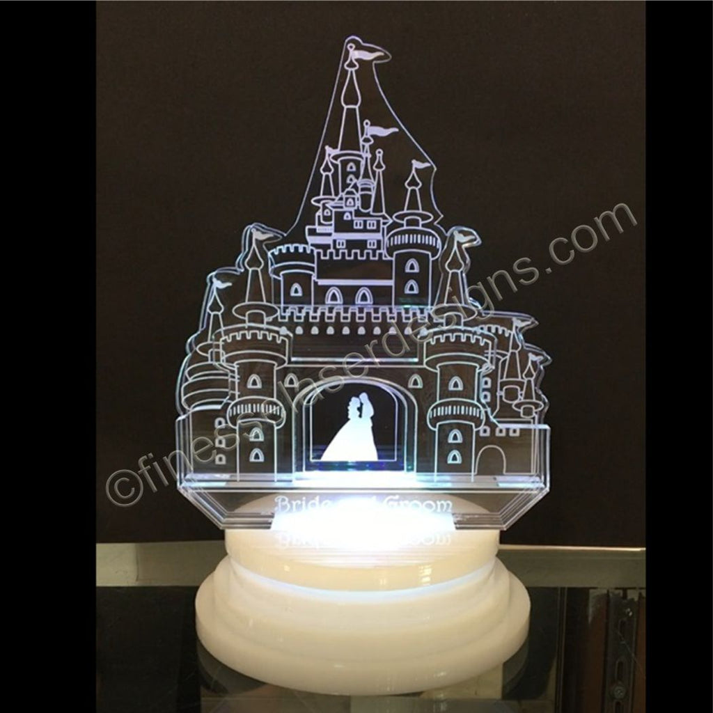 Amazing Fairy Tale Princess Castle Wedding Cake Topper Acrylic With Rgb Funny Birthday Cards Online Inifofree Goldxyz