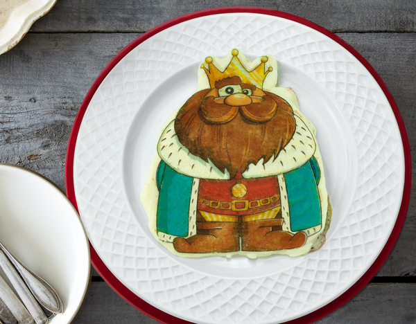 Camelot Pancake art - characters include king, princess, knight, dragon, castle and treasure. Great for princess parties, kids breakfast, and creating fun pancake art the family will enjoy.