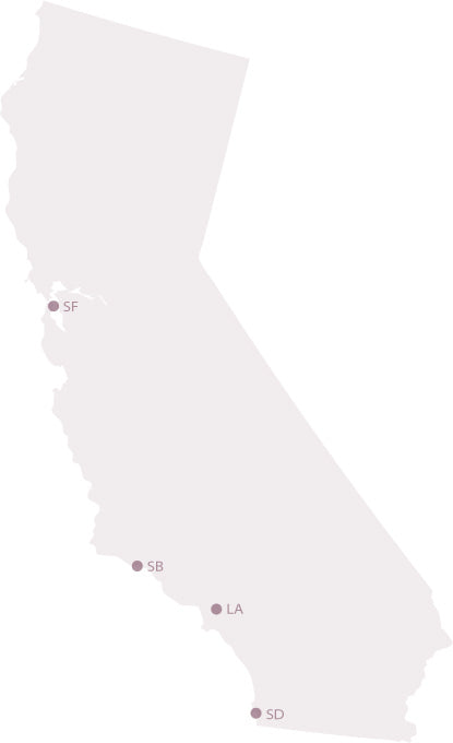 map californie