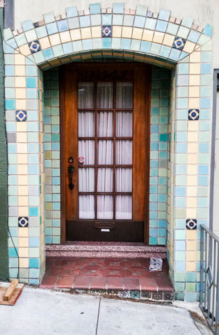 SF tiled apartment entrance