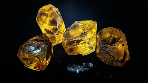citrine rough crystals