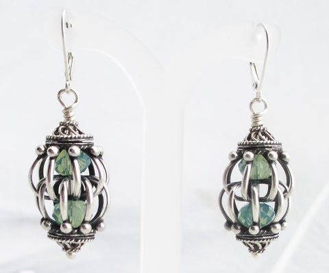 Caged Crystal Earrings