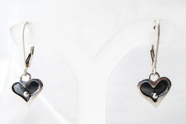 Small Heart in a Heart Drop Earrings