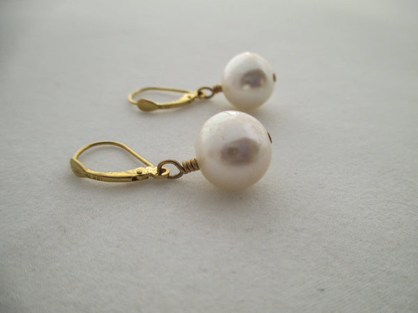 Classic White Pearl Necklace and Earrings
