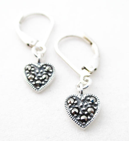 Tiny Sparkly Heart Earrings