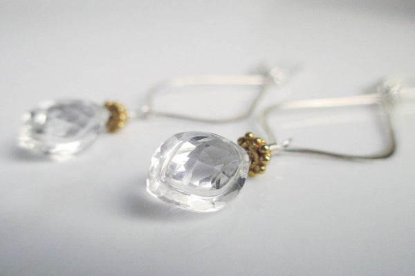 Arabesque Stargazer Crystal Quartz Earrings