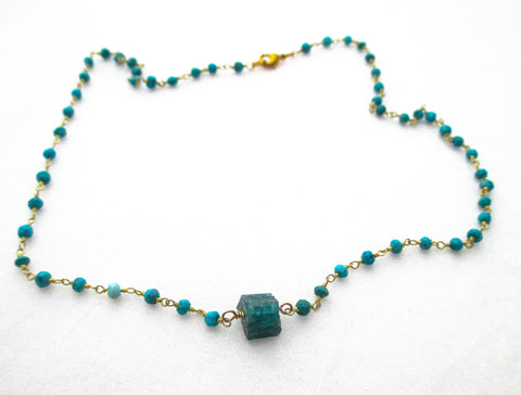 Apatite and Turquoise Chain